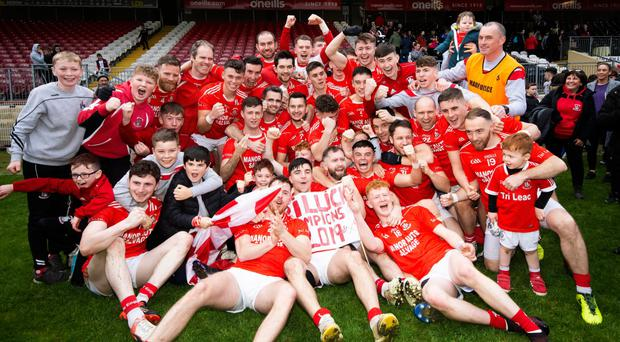 Just champion: Trillick players celebrate their Tyrone final