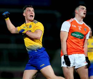 On the board: Roscommon's Cian McKeon celebrates scoring a point