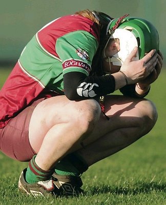 Aideen O'Flynn at the final whistle