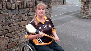 First lady: Geraldine McGarrigle has made history since taking up wheelchair hurling