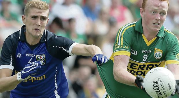 Killian Clarke battling with Kerry's Johnny Buckley