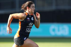 Down Under: Joanne Doonan during a Carlton Blues AWFL training session