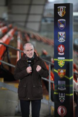 New role: Mickey Harte swaps the sideline for the microphone as an analyst on the BBC's Championship