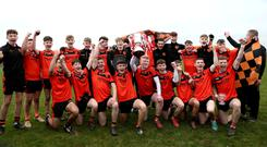 Just champion: Lavey get the party started as they lap up their success in yesterday's Ulster Minor Club final over Termon at the St Paul's club in Belfast