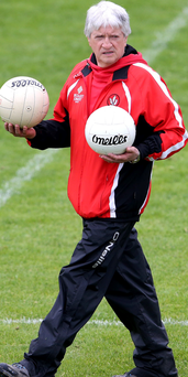 On the ball: Brian McIver is already planning Derry's next campaign