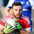 On fire: Emmet McGuckin's impressive power up front can help Derry finally get the better of hot rivals Tyrone in the McKenna Cup final