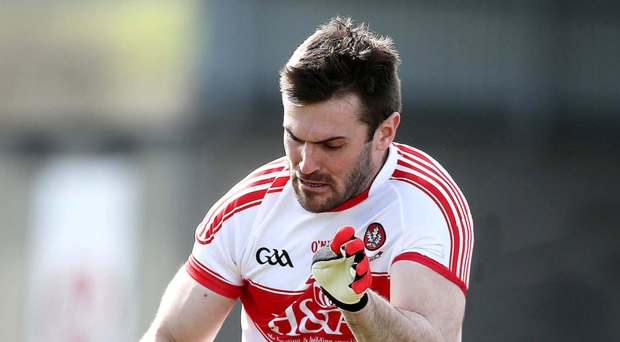 On form: Ex-Derry ace Mark Lynch was inspirational for Banagher against Bellaghy