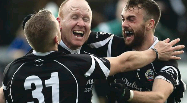 Kilcoo players celebrate their win