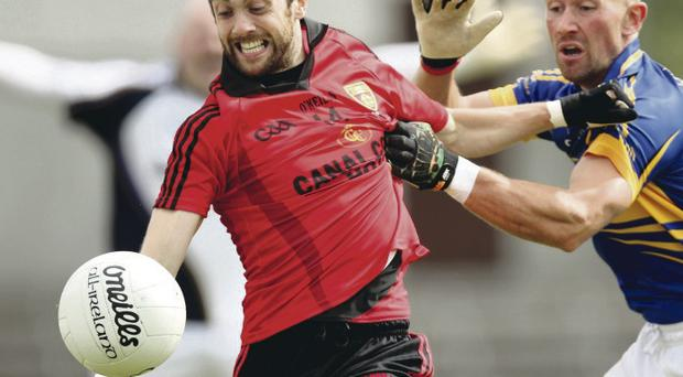 Club boost: Conor Laverty could shortly be joined by several of his Kilcoo colleagues in the Down side