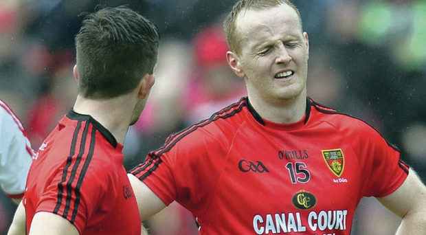 Game changer: Benny Coulter was Down's catalyst last Sunday, but he couldn't prevent Tyrone's last-gasp equaliser to earn a replay