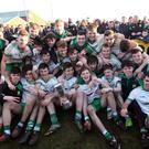 Cup joy: Burren players celebrate following their victory over Kilrea in the Ulster Minor Club final at St Paul's, Belfast