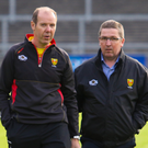 Tough task: Down boss Eamonn Burns and chairman Sean Rooney have to turn around a struggling Down side