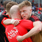 Shooting star: Jerome Johnston's finishing skills can underpin Kilcoo in tomorrow's Down final against Burren in which they will be seeking title number six on the trot
