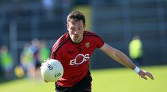 Missing out: Niall Donnelly's absence will be felt by Down