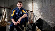 Tucked away: Darren Hughes is already isolated on his farm