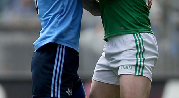 Fierce contest: Barry Mulrone (right) and Rory O'Carroll