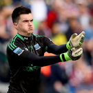 Net gains: Devenish goalkeeper Thomas Treacy has his sights on the Fermanagh title which would prove the icing on the club's centenary year celebrations