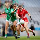 Hot pursuit: Fermanagh's Joanne Doonan tracks Niamh Rice of Louth