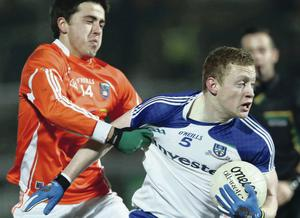 On the up: Monaghan's Colin Walshe