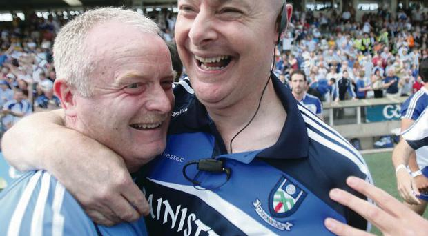 Monaghan manager Malachy O'Rourke celebrates