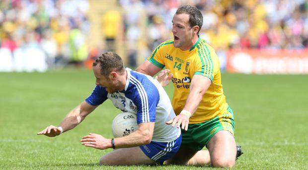 Pointless: Donegal captain Michael Murphy failed to score from play in the Ulster final