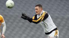 Title drive: goalkeeper and Belfast Lord Mayor John Finucane is hoping to lead Lamh Dhearg to Antrim Championship glory on Sunday