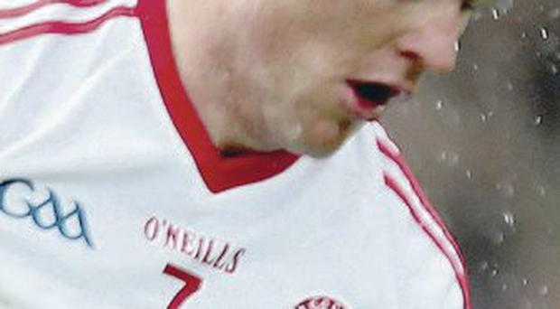 Focused: Conor Gormley plays 71st game for Tyrone today
