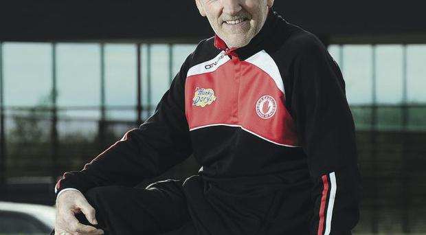 Red alert: Mickey Harte has brought 'Sam' back to Tyrone on three occasion and with a turnover of 10 players between 2003 and 2008