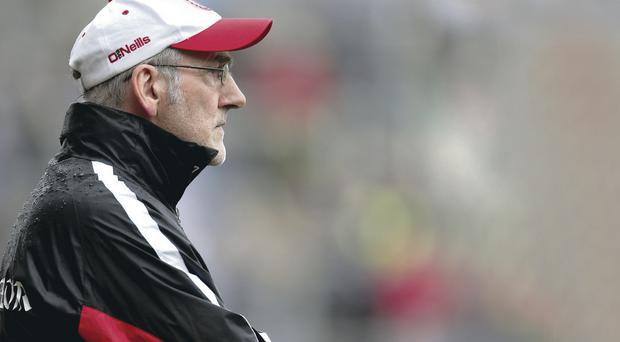 Aiming high: Mickey Harte doesn't hide the fact that he wants to lead Tyrone to McKenna Cup success