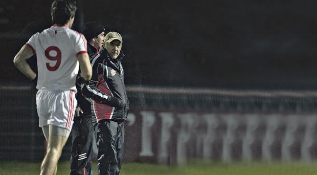 Mickey Harte oversees Tyrone's hammering of Armagh at Healy Park