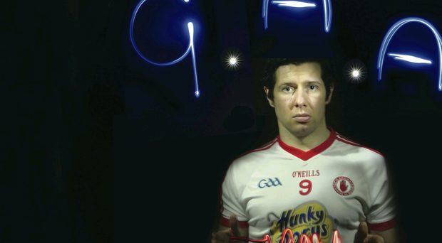 Sean Cavanagh lights up the Allianz Football League launch at Malone House yesterday