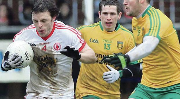 Making the cut: Barry Tierney is included in the defence, underlining Mickey Harte's willingness to gamble