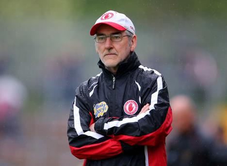 Watching: Tyrone manager Mickey Harte