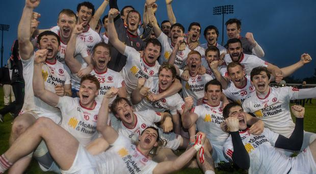 Victory roar: Tyrone's Under-21s celebrate their All-Ireland title success