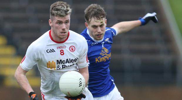 Fitness battle: Declan McClure is hoping to get the green light for Tyrone's Championship opener