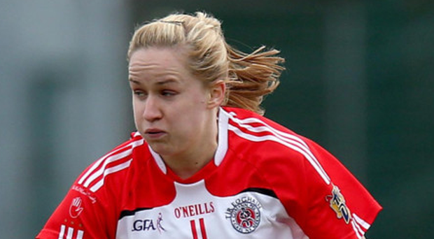 On song: Tyrone's Gemma Begley is in top scoring form