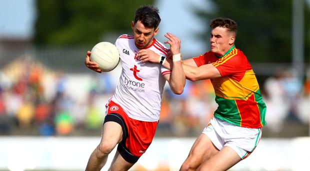 Well armed: Tyrone skipper Mattie Donnelly (left) feels his side is geared for a lengthy run