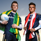Eyes on the prize: Eoghan Bán Gallagher of UU and Donegal (left) and Michael McKernan (UU and Tyrone) are primed for top-level action