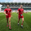 High point: Tyrone duo Michael Cassidy and Harry Loughran celebrate last year's All-Ireland semi-final victory over Monaghan