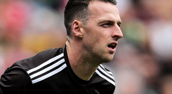 Time for change: Tyrone goalkeeper Niall Morgan wants the rules amended for players taking '45s'