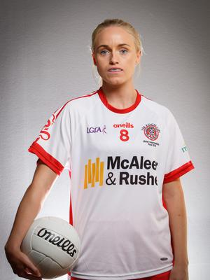 Upbeat: Neamh Woods is hopeful of a Tyrone victory