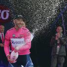 Svein Tuft celebrates pink jersey Giro d'Italia success in Belfast on his birthday