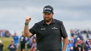Shane Lowry holds a four-shot lead after the third round of the 148th Open (Richard Sellers/PA)
