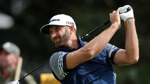 Dustin Johnson started the final day two shots behind overnight leader Brendon Todd (Niall Carson/PA)