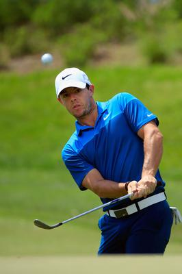 Back at it: Rory McIlroy was pleased with his work