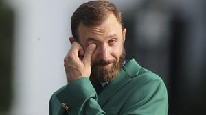 Dustin Johnson says the Masters is the one tournament he has always wanted to win (Curtis Compton/Atlanta Journal-Constitution via AP)