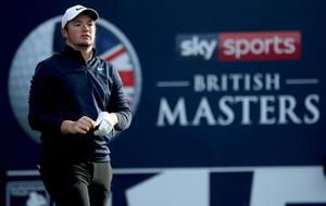 Sam Horsfield set a course record of 61 on day three of the British Masters at Close House (Steven Paston/PA)