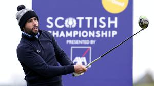 Adrian Otaegui has some breathing room atop the Scottish Championship leaderboard (Kenny Smith/PA)