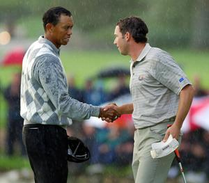 Woods beat Garcia to the 1999 title (Rui Vieira/PA)
