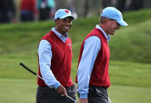 Steve Stricker was intimidated by his first round with Tiger Woods, but they later became Ryder Cup partners (David Davies/PA)